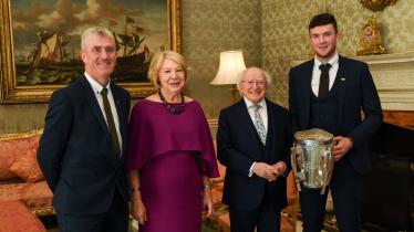 SLIDESHOW: Limerick hurlers hailed 'inspiring role models' by president in Áras an Uachtaráin