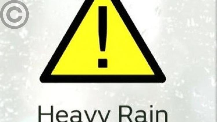 WEATHER WARNING: Met Eireann issues Weather Warning for five counties
